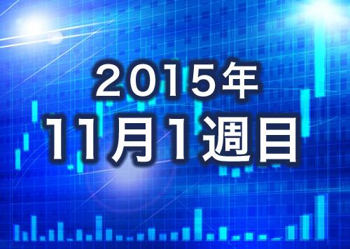 11月1週目株の成績
